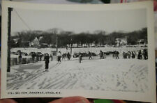 c1950 Ski Tow at the Parkway Utica New York NY real photo postcard
