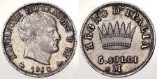 5 SOLDI 1810 MILANO NAPOLEONE I RE D'ITALIA Spl XF ARGENTO SILVER #6768