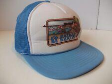I'd Rather Be Huntin' Hat Vintage Blue Snapback Rope Trucker Cap