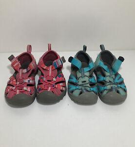 Keen Sandals (Lot Of 2) Kids Size 7 Aqua & Pink Waterproof