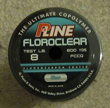 pline clear fluorocarbon line 8lb 600 yd NEW  p line