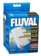 FLUVAL WATER POLISHING PAD, 6 PACK, FOR MODELS 304/305 404/405 A244