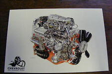1965 CHEVROLET ONE HUNDRED YEARS ENGINE ILLUSTRATIONS BY DAVID KIMBLE POSTCARD