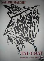 TAL COAT Pierre  Affiche Galerie Lithographie