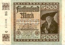 ALLEMAGNE GERMANY 5000 M 1922 état voir scan 606