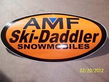 "4"" X 7.5""  Vintage AMF SKI-DADDLER Sticker (New Black, Orange, Blue Vinyl )"