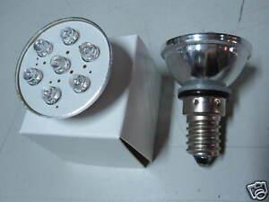 LAMPADA E14 LAMPADINA FARETTO 7 LED FREDDA FARETTO SPOT per RISPARMIO ENERGETICO