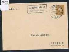 00192) Landpost Ra2 Wartenstein Schivelbein Land. PP 1930 > Stettin