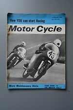 R&L Mag: Motor Cycle 7 Feb 1963 Reliant Regal 3/25 600/ Bike Racing Advice