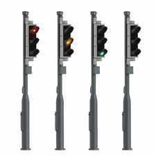 4pcs HO Scale 1:87 Crossing Signal Crosswalk Block Signals 4cm Red Yellow Green