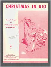 Christmas In Rio 1954 Vintage Sheet Music