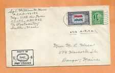 WORLD WAR II MILITARY MAIL APO 942 1944 CENSORED AIR FORCE