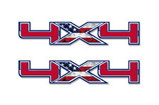 "4x4 Off Road Truck Bed Decal Set For Ford F150 Raptor Vinyl Stickers 16""x3"" USA"