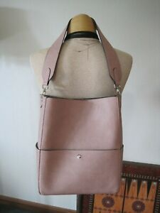 Beautiful Vintage Rose Faux Leather Bucket Bag or Lunch Tote