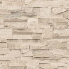 Wallpaper Muriva - Luxury Realistic Slate Cladding - Stone / In Cream - J27409