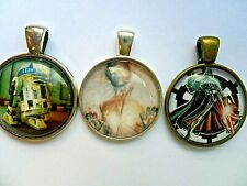 SALE Set of Three   STAR WARS     Glass Dome Pendants & Necklaces