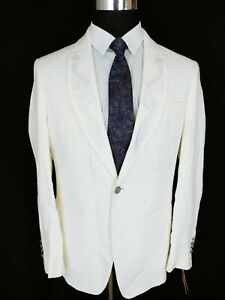 Tallia Mens Ivory Off-White Linen Two-Button Blazer Sport Coat Jacket 40R Dragon