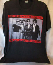 VTG 80s~BUDWEISER THE ROLLING STONES 1989 STEEL WHEELS~CONCERT TOUR~T-SHIRT