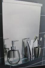Structure en métal chromé Salle de Bain Miroir Mural Avec Verre Étagère Étagère de salle de bain NEUF