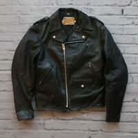 Vintage Schott Leather Perfecto Motorcycle Jacket Size 38 Made in USA Biker