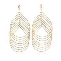 Free Shippingl 18K Yellow Gold Filled Jewelry Womens Fashion Dangle Earrings Hot