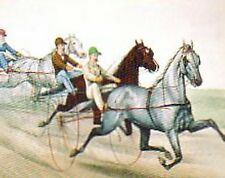 Famous Trotting Horses of the 1800's by Currier & Ives Sweetser Sleepy George