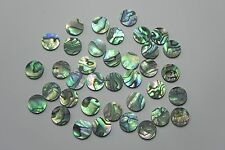 """PAUA ABALONE  SHELL Solid 1/4"""" (6.35mm) dots inlay position markers 20pcs."""