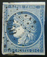 France Stamp 1849-50 25c Ceres Scott # 6 Used