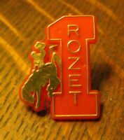 Rozet WY Vintage Rodeo Lapel Pin - Wyoming Cowboy Bucking Bronco Souvenir Badge