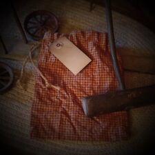 Primitive Seed~Ditty Bag~Check~Rusty Pin~Hang Tag~Aged~Cinnamon Vanilla~Peg~
