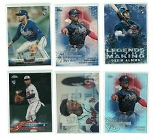 26) Ozzie Albies 2018 Topps BLUE/ Chrome/ Holiday/ Heritage Rookie Lot BRAVES