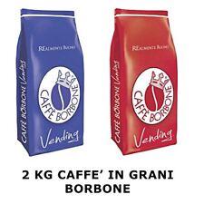 Grani - 1Kg Miscela Blu 1Kg Miscela Rossa -Confezione da 2 Pezzi - Caffè Borbone