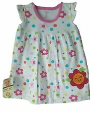 Baby Girls Embroidered Flower Dress Size 6 Months,12 Months