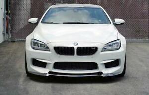 Carbon Fiber V Style Front Splitter Lip Spoiler for BMW M6 F06 F12 F13