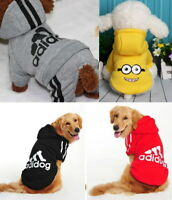 Puppy Small Large Pet Dog Cat Clothes Apparel Coat Jacket Shirt Hoodie Jumpsuit