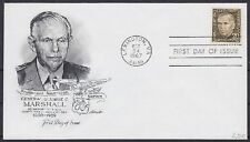 Estados unidos FDC 935, Vandersanden. Lexington 1967, el general marshall, First Day cover