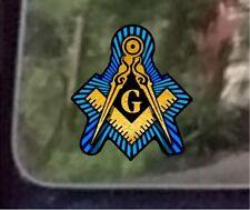 "Prosticker 015 (One) 4"" Compass and Square Masonic Decal Sticker Freemason"