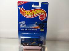 1996 Hot Wheels GMC Motor Home Mint On Card # 524 - Blue W/ BW's -