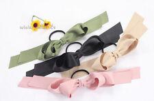 Oversize Ribbon Bow Alice Hair Band Headband Black Alice In Wonderland UK