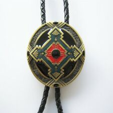 Vintage Antique Bronze Keltic Celtic Cross Bolo Tie