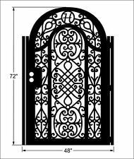 Metal Gate Free Monogram Pedestrian Walk Thru Iron Garden Art Made in USA 3x6