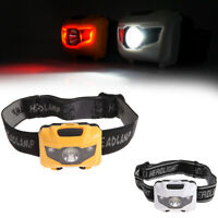 LED COB Headlamp Headlight Head Lamp Light Torch Flashlight Portable 3 Modes AAA