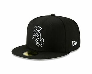 New Era Chicago White Sox Basic Black Outline 59FIFTY Fitted Hat MLB Cap