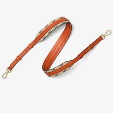 Michael Kors Heritage Handbag Guitar Strap Natural Orange 30S7GG9N1V