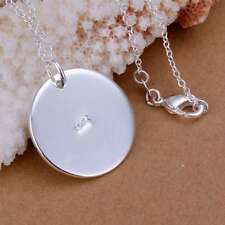 Fashion 925Sterling Solid Silver Jewelry Round Chain Pendant Necklace P137