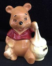 Vintage Winnie The Pooh Honey Pot Porcelain Figurine Disney Made In Japan