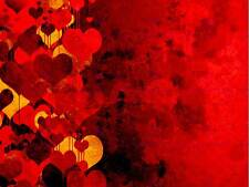 PAINTING ILLUSTRATION ABSTRACT LOVE HEART DESIGN PATTERN PRINT POSTER MP3025B