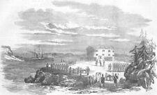 FINLAND. Surrender of Tower of Prasto, Bomarsund, antique print, 1854