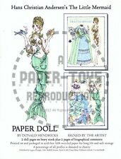 Reprint - Donald Hendricks The Little Mermaid Paper Doll - Reproduction