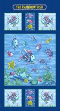 The Rainbow Fish Shells Ocean Quilt Fabric Panel *New*